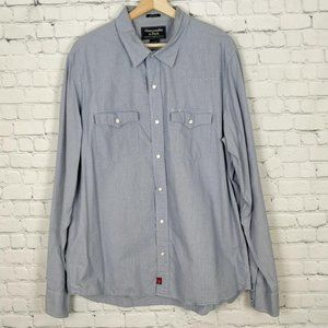 Abercrombie and Fitch Cowboy Shirt XL Blue White